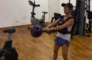 Dr Julinda Lee Exercising